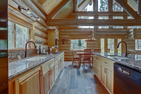 Private Riverfront Log Cabin Retreat on 1.5 Acres