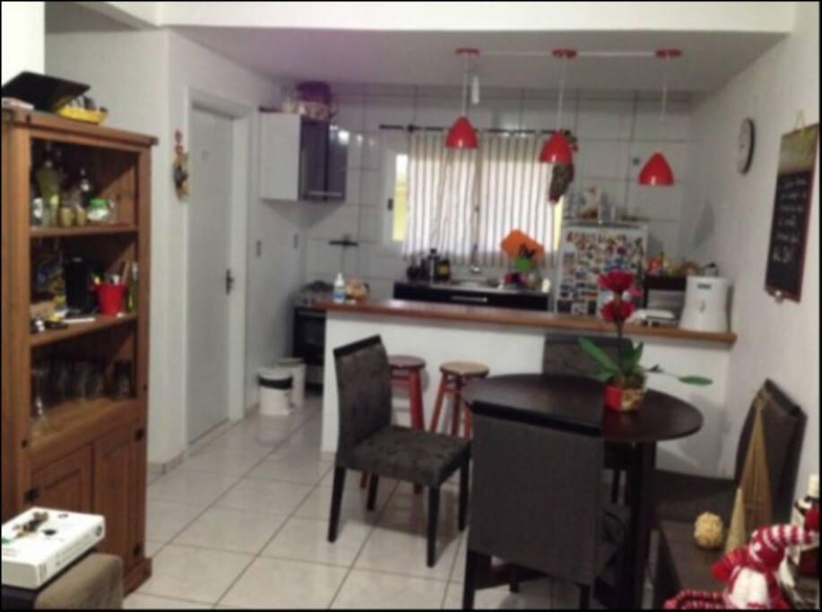Sala de estar e cozinha!