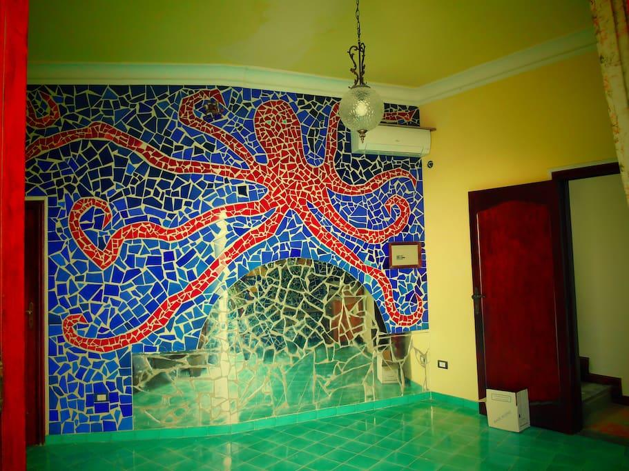 mosaici,fatti a mano,con ceramiche vietresi