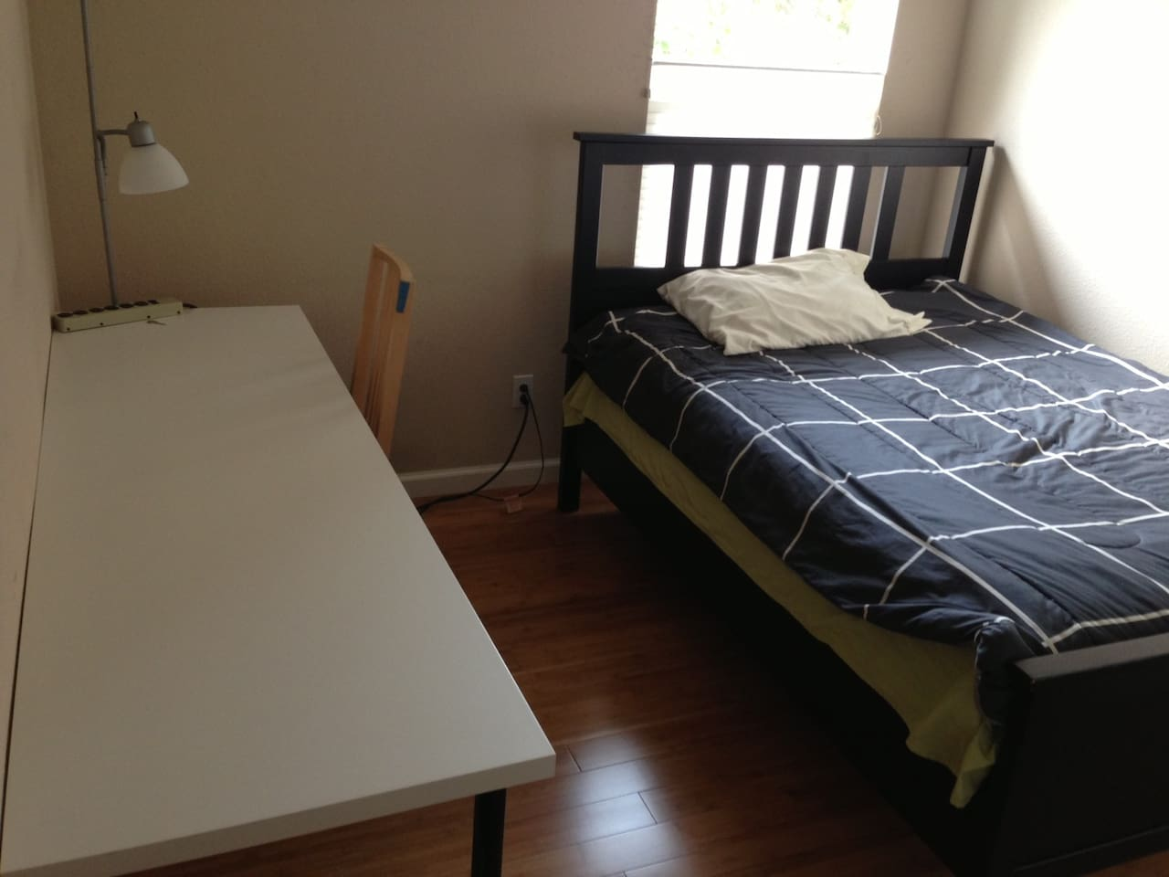 New Full Size bed and Ikea desk