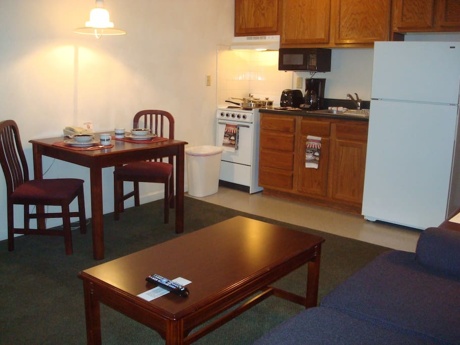 Free Wifi and expaned cable with HBO included.  On site guest laundry and grill area.