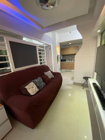 3 Seater Sofa with Smart TV (FREE Netflix) w/ Soundbar