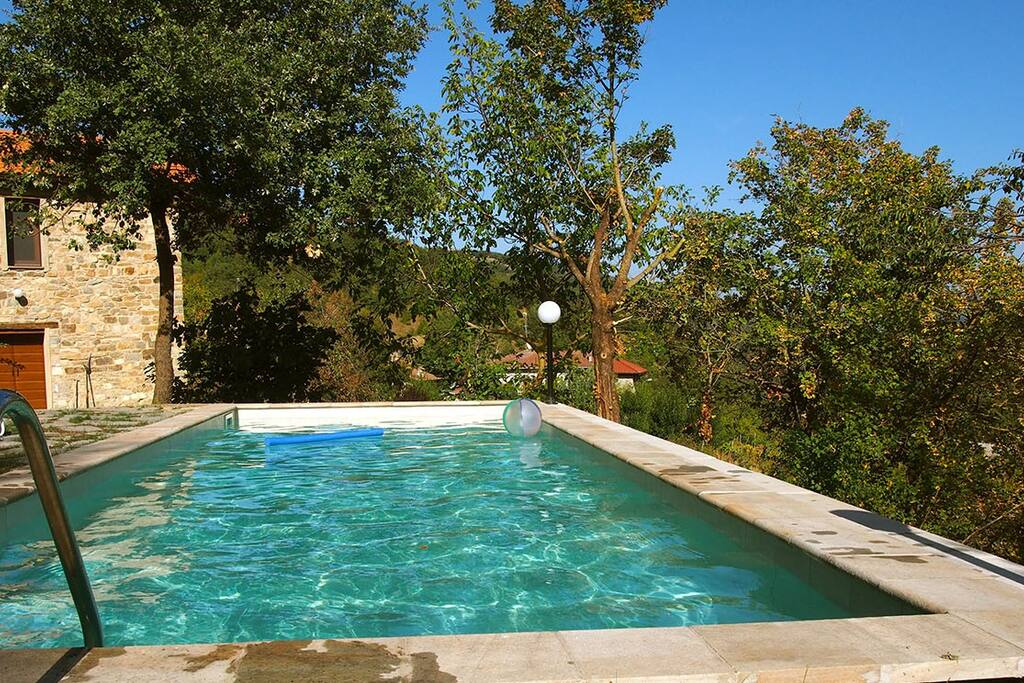 The pool is shared between three properties