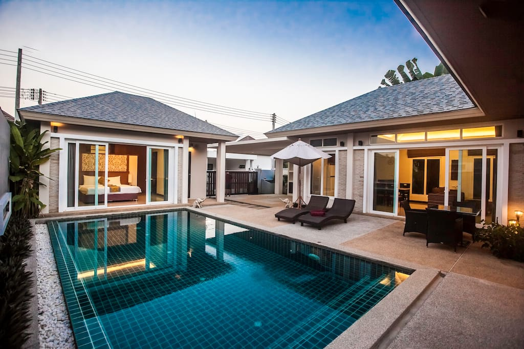 Private pool and bungalow