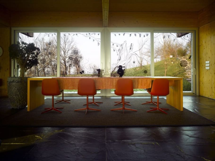 Dining area in the open living area