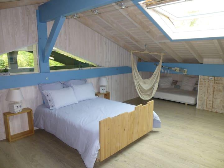 belle chambre à Biarritz