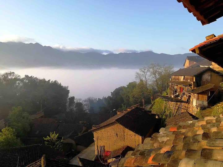 柿里艺宿/套房/海拔770米上的古村落/丽水松阳
