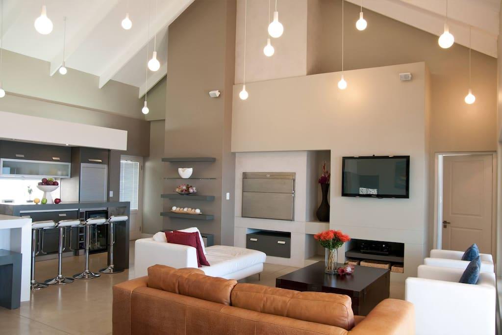 Lounge area with indoor braai facilities