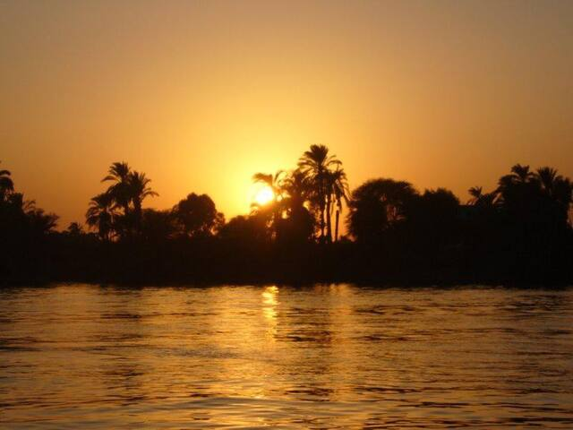 Tranquil sunset on the River Nile