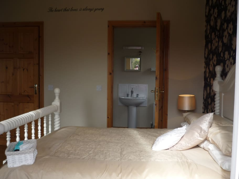 Spacious double room with ensuite bathroom and large shower