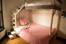 Second Bedroom.  Queen plus Twin XL on top
