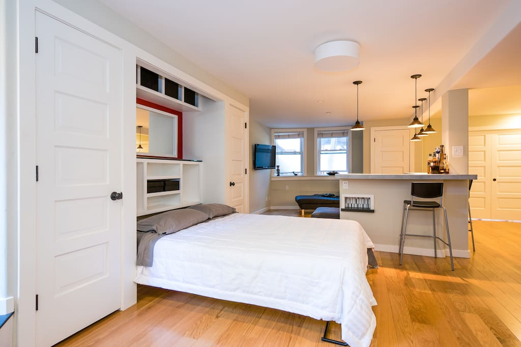 1 bedroom apt with add 39 t murphy bed apartments for rent for Murphy beds san francisco