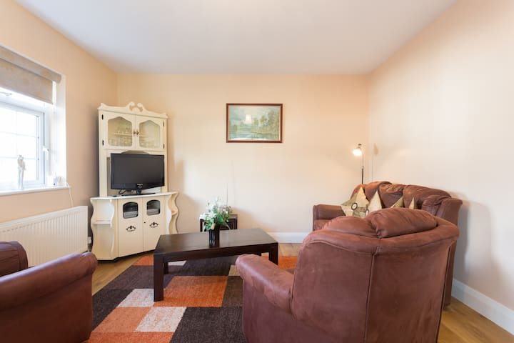 Living room with free wifi and flat screen Tv in Cong