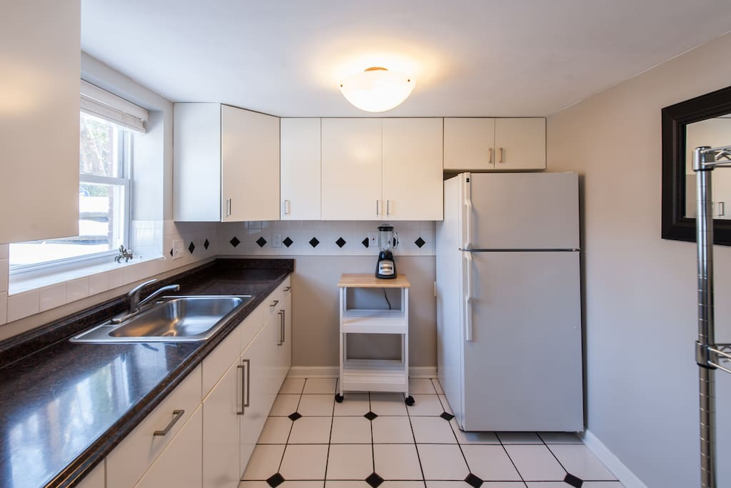 Bright, new sunny kitchen.