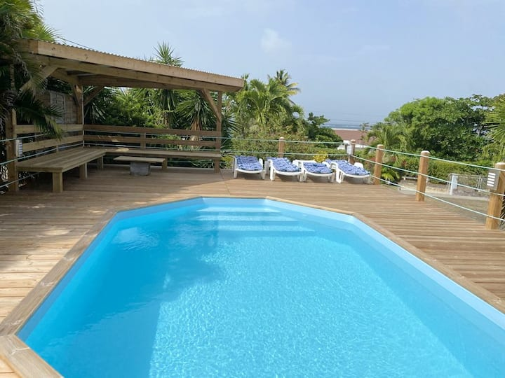 Villa with 5 bedrooms in Le Vauclin, with wonderful sea view, private pool, enclosed garden - 500 m from the beach