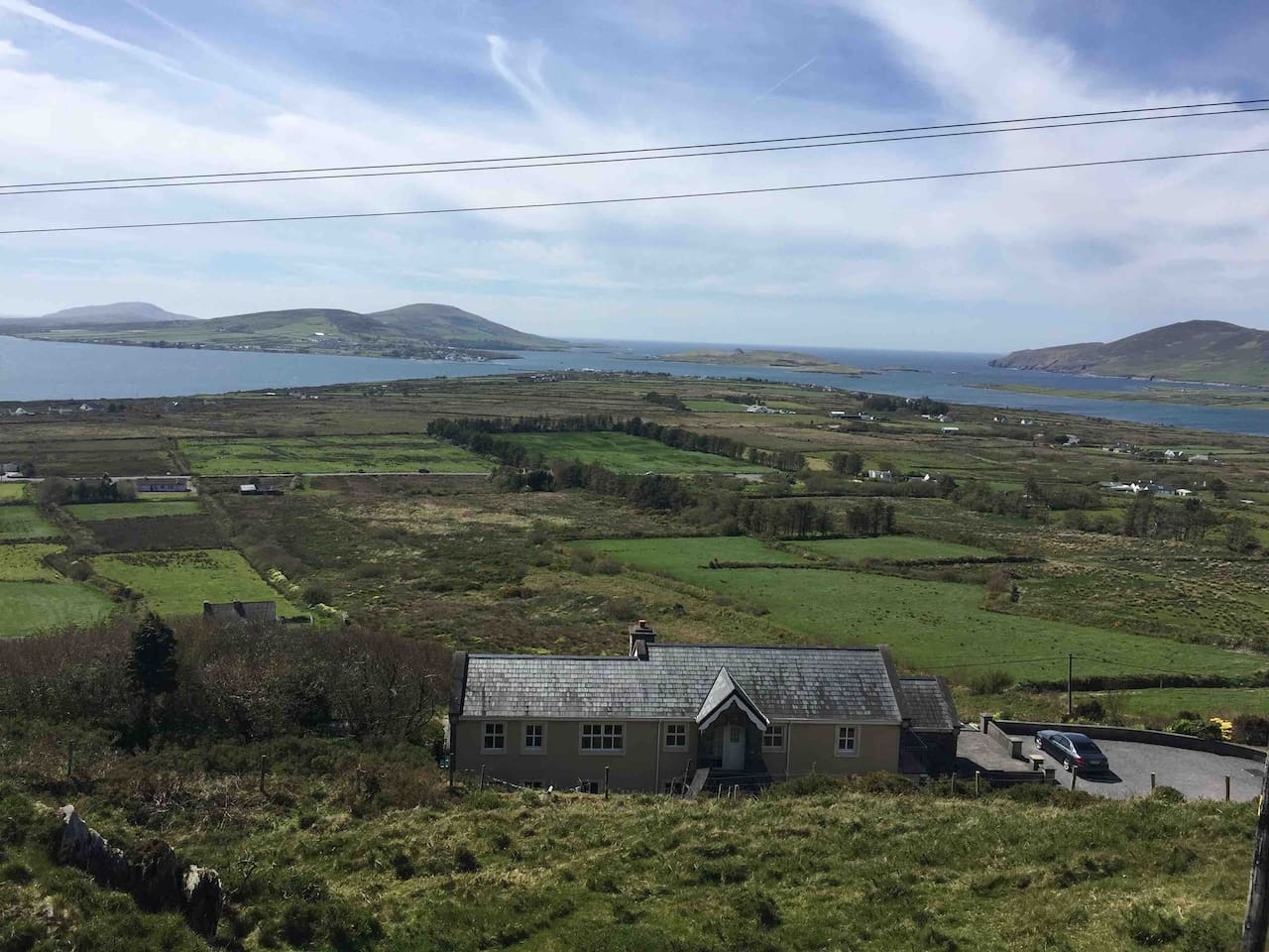 This is the View of Valentia Beginish, Church Islands from our house, amazing views, on the Wild Atlantic way