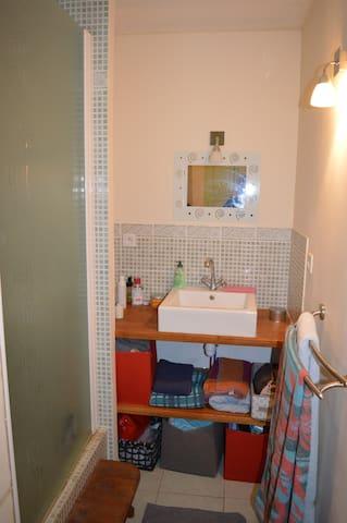 salle d'eau attenante à la chambre parentale