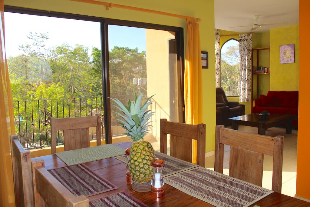 Dining Table, Kitchen Balcony, and Living Room