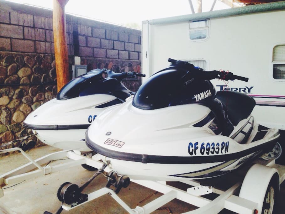 We have jet skis available for rent, or you can bring your own