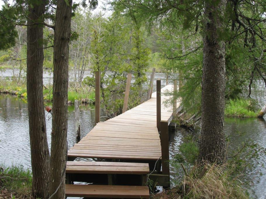 Bridge to dock