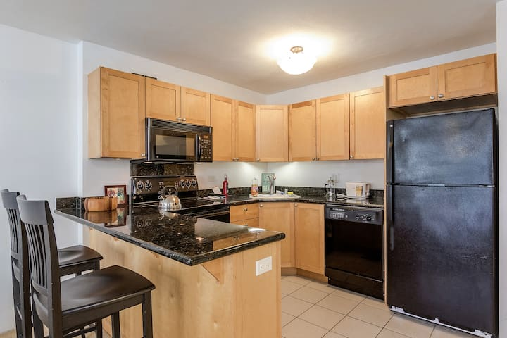 Kitchen with all amenities you can think of  Yes with free fast WiFi .