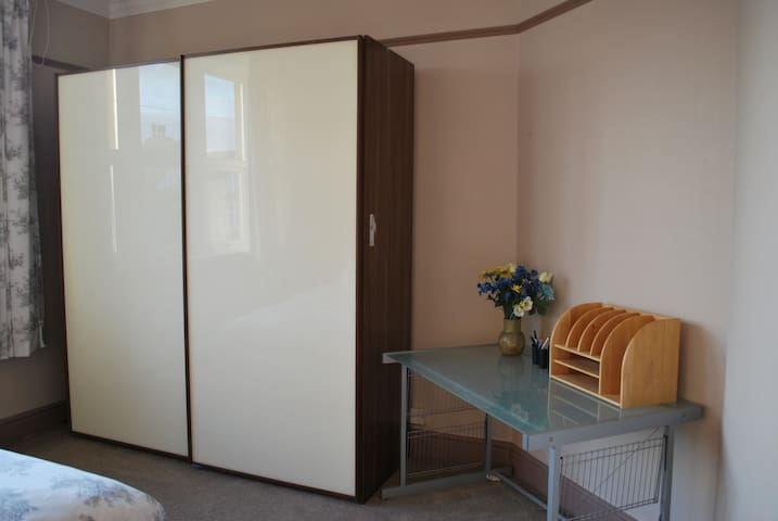 Bedroom  - Desk area (chair provided) and large wardrobe