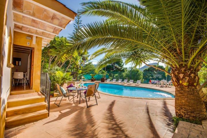 ☼Sol de Mallorca 2: Tennisplatz, Pool, Wifi, TV !
