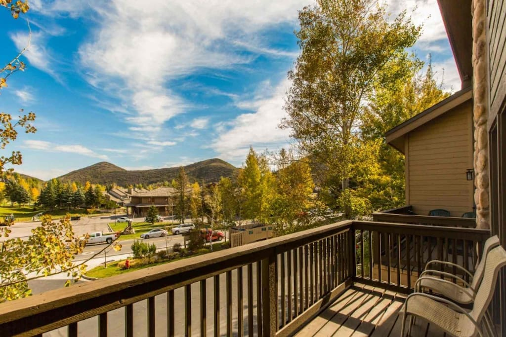 The view from your private deck and balcony. With modern upgrades, comfortable bedrooms and endless amenities, this home is perfect for family trips.