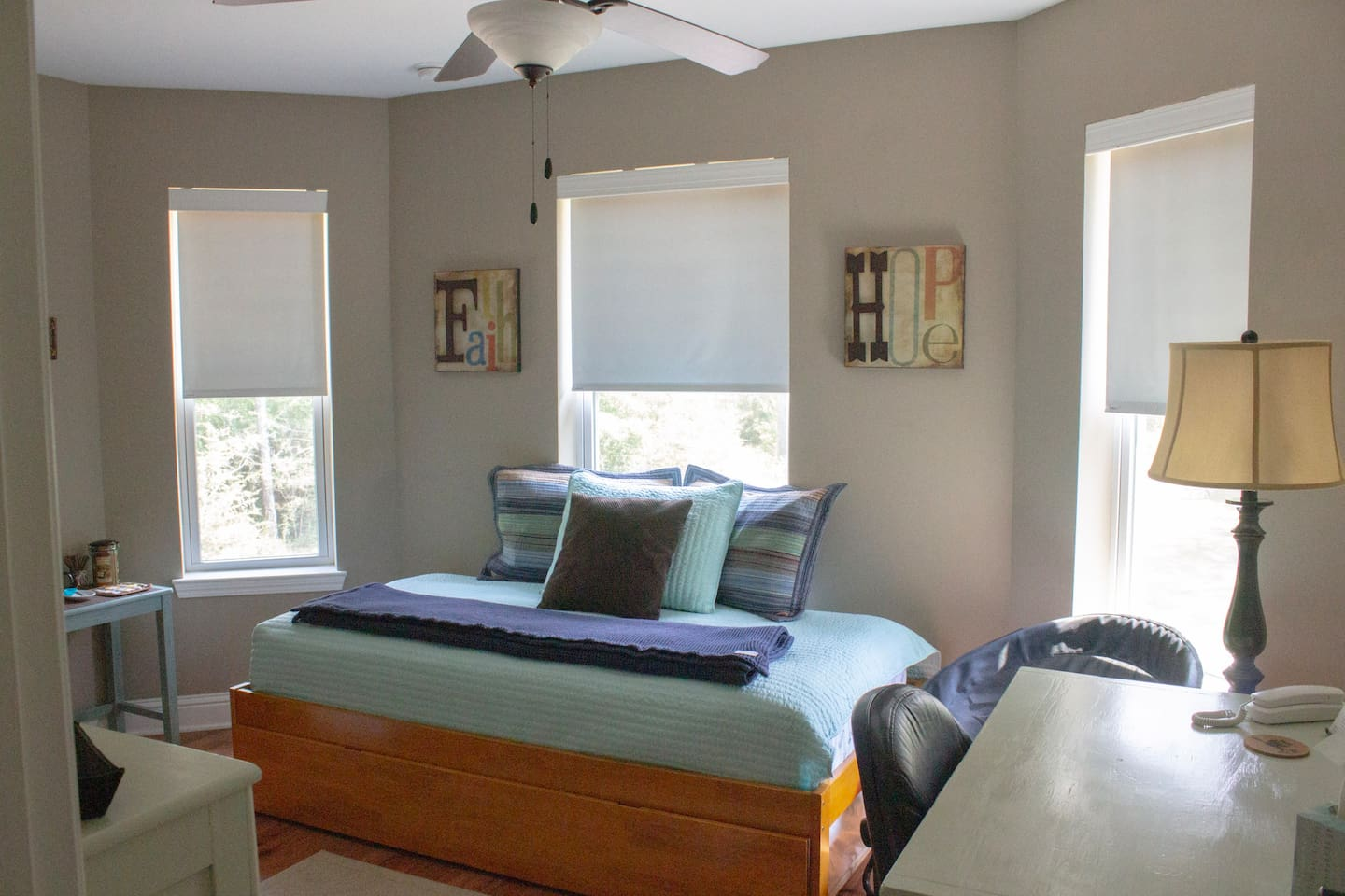 The Lookout Room is located on the second floor of the house. With the twin trundle bed, this room sleeps two single adults...