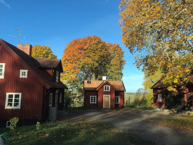 Comfortable room in village near Uppsala