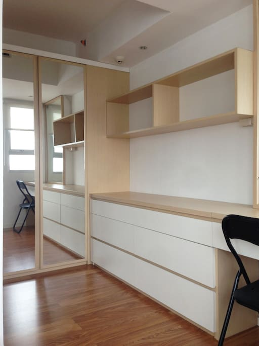 Wardrobe and Working Table