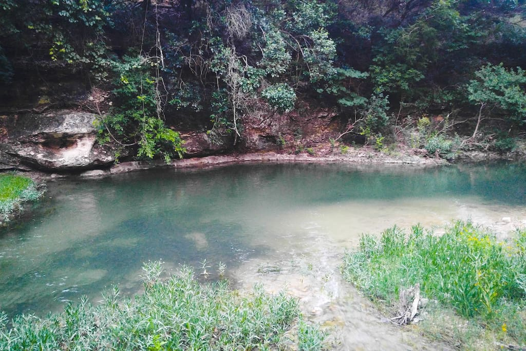 creek and swimming hole close