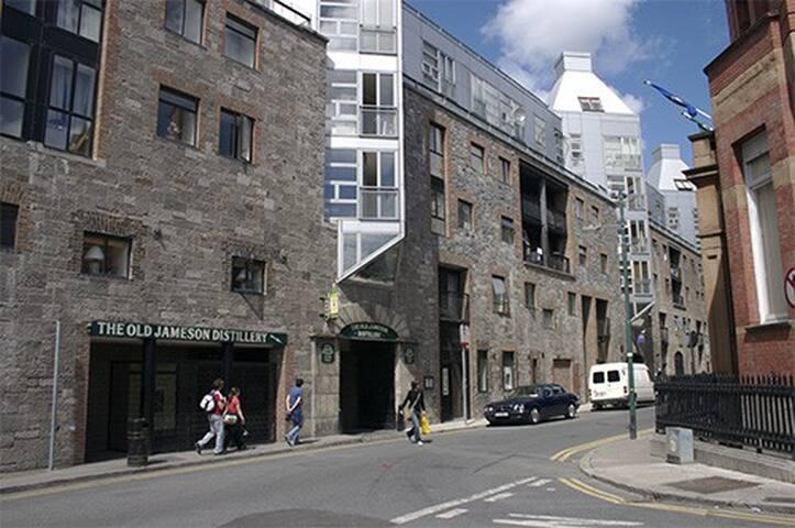 Whiskey Corner. Bow street and May Lane