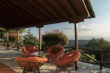 beautiful view from the front balcony on Pagasitikos bay