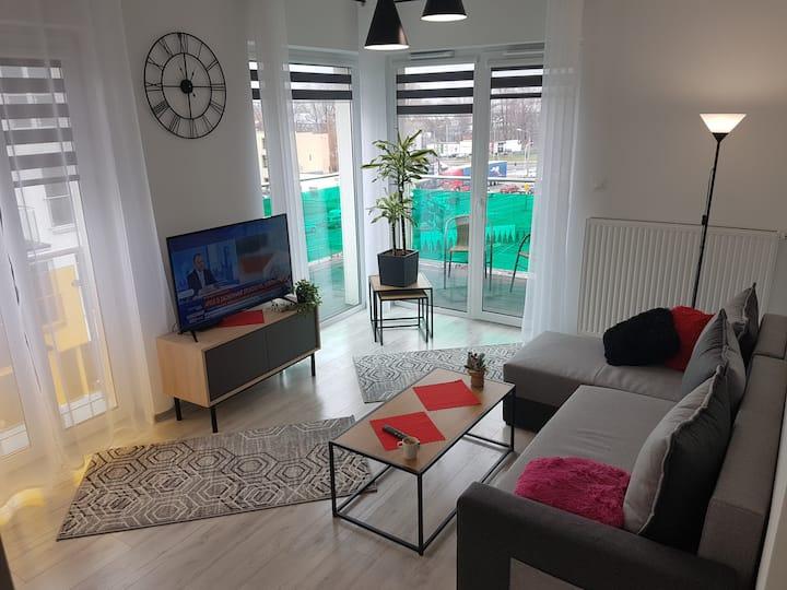 Komfortowy Apartament Kustronia-Garaż Balkon Wanna
