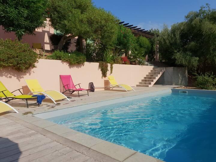 Belle maison de 240 m2, piscine, vue d'exception