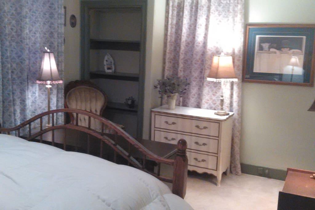 Queen bed view 2