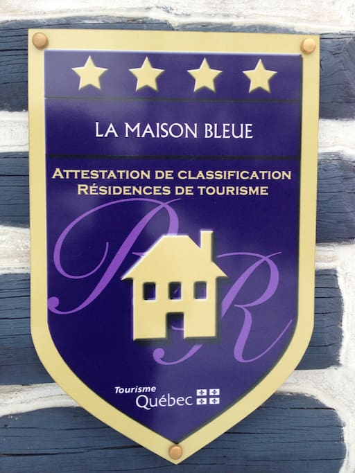 Legally registered with a 4 star rating from Tourism Quebec!