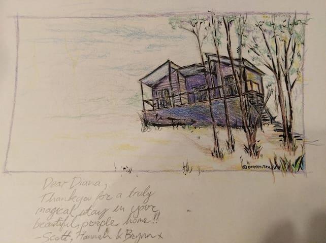 Purple House - Corner Spa, views & wildlife