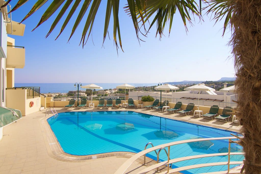 Take a look at the amazing view from the rooftop pool!