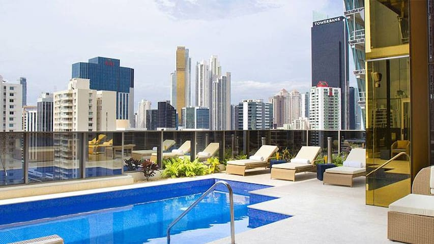 GLOBAL HOTEL PANAMA - CITY VIEW - TWO QUEEN BEDS