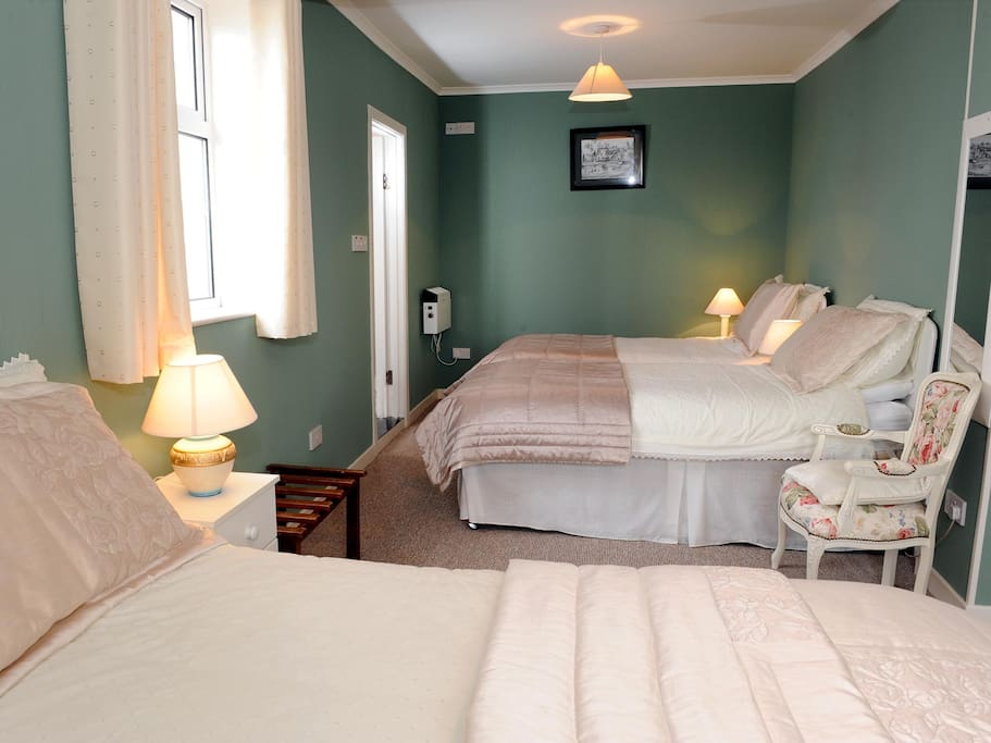 ! king size bed and 2 single beds