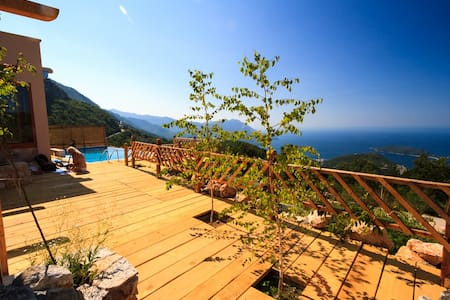 A mountain lodge style villa   - Budva