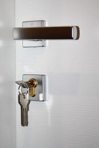 Porte con chiavi di sicurezza