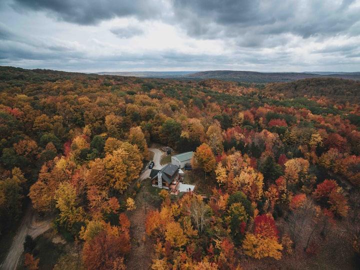 Epic Boyne Log Home w/ Views on 20 Private Acres!