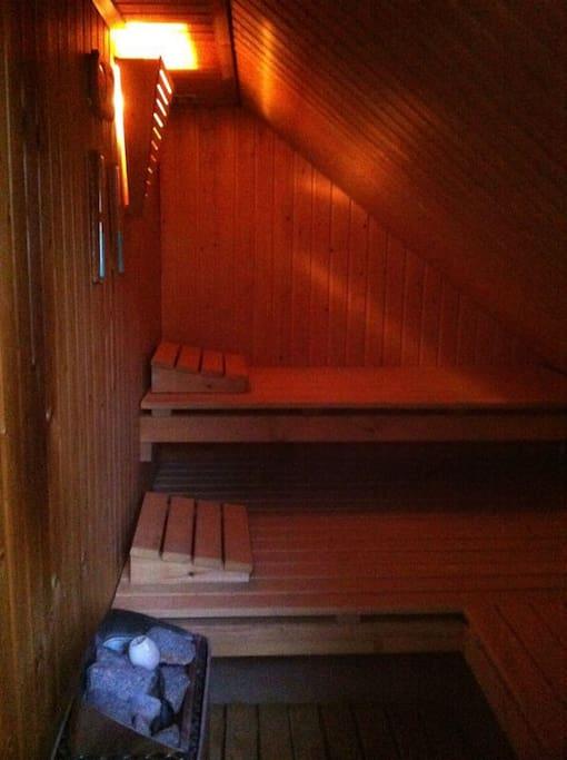 Sauna at the top floor