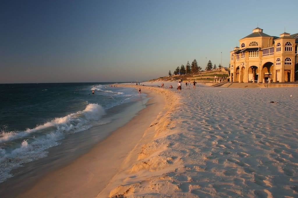 Cottesloe Beach at sunset just a short walk away.
