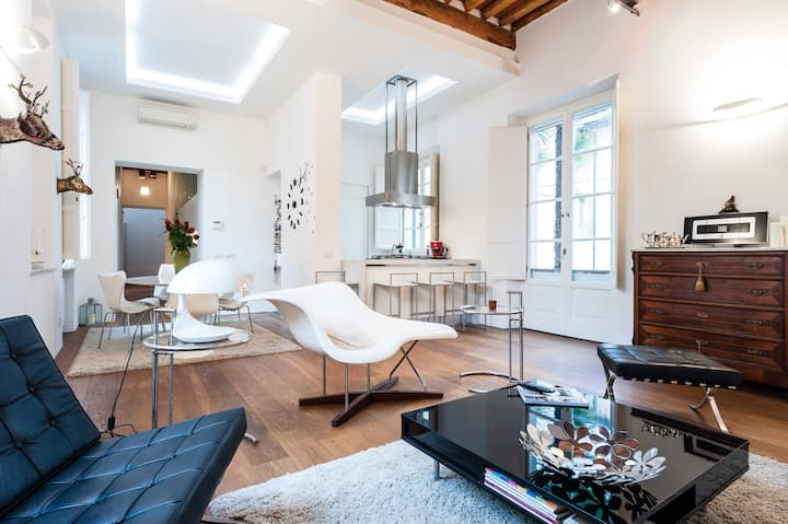 Spacious light apartment in the heart of lucca