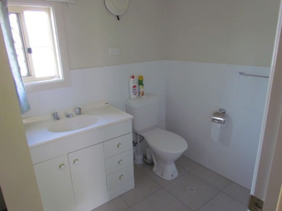 Bathroom + second toilet as well.