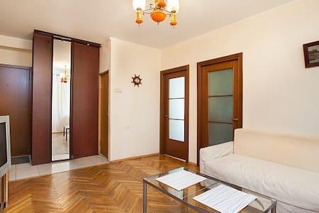 Уютная квартира у метро Сокол - Москва - Apartament